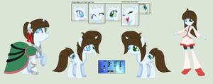 Gamer Glitch Reference Sheet by MoonIight-Eevee