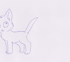 Paper cat animation test by Aluri