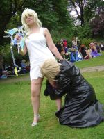 Namine with a sword and Roxas by Wings-chan