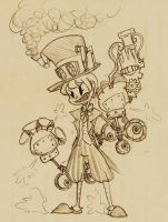 Steampunk Peacock by Klashkrool
