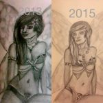 Before after fairy by evildollie