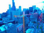 DOWNTOWN CHICAGO AERIAL VIEW by DBTHEKID