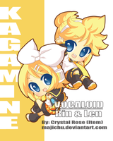 Rin and Len by Majichu