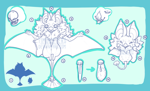Geisha Bat Anatomy Guide by Corvikin