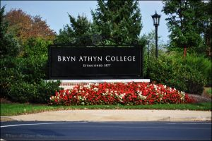 Bryn Athyn College Sign by Flower-of-Grace