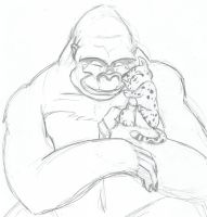 Optimus Primal and Little Cheetor Cub by RID-NightViper