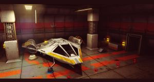Star Wars Koensayr Fighter/Bomber in Hangar by AdamKop