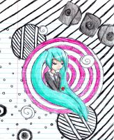 Miku: Saihate Colored :D by SunflowerJuice