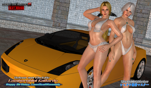 DOA5LR: Helena and Christie - Lamborghini Gallardo by ShadowNinjaMaster