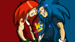 Sonic Vs Knuckles by CmacX