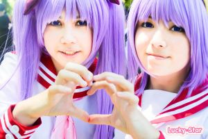 LUCKY STAR: Hiiragi Twins by EndlessXDream
