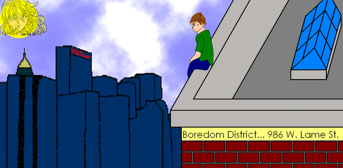 Mike in the Boredom District by Hiro0015