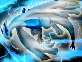 Guardian of the Sea:: Lugia by SpyxedDemon