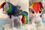 Re-haired Build-a-Bear Rainbow Dash by Arualsti