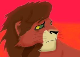 Exiled Kovu by SolitaryGrayWolf