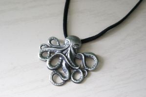 Tentacle Guardian Necklace by MonsterBrandCrafts