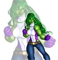 She-Hulk by colouredforpleasure