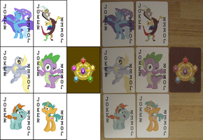 Pony Playing Cards - Jokers Pack (plus Card Back) by kyleevee