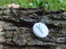 Fehu Rune Necklace by Euphyley