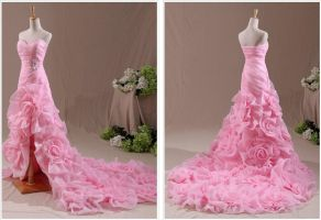 Pink Wedding Dress by weodress