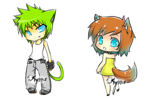 some chibis 3 by ayrra