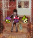 Zombies Cupcakes Png's by silly-luv