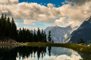 Small Lake in the Mountains by Gr4Fix