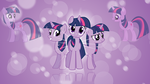Twilight Sparkle 'Bubbles!' Wallpaper by BlueDragonHans