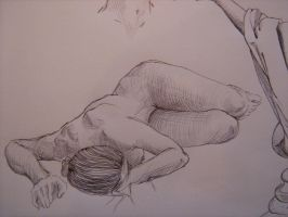 Resting (pen) by Gleb-Vo