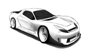 RX7 2010-2012 concept sketch3 by wingsofwar