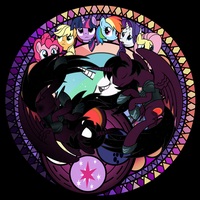 Twilight Shadow Stained Glass by Ashidaru
