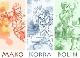 Legend of Korra: A Working Trio by JD-SPEEDbit