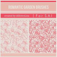 [For SAI]  Rose Brushes by ASlovesLisa