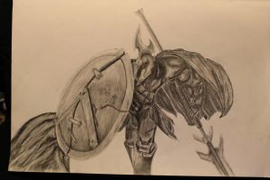 Full Metal Pantheon Graphite leagueoflegends by shydoo