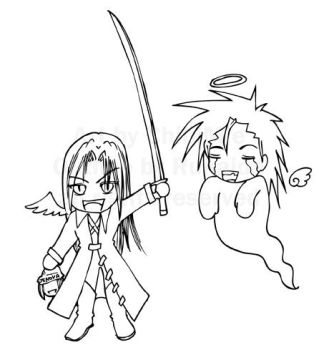 ChibiSephy and GhostZack by ChibiMie