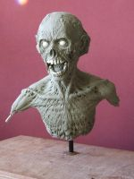 Zombie sculpt -work in progress, front view by revenant-99