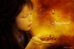 Autumn little girl by Mahora-Art
