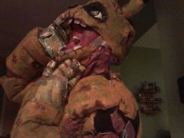 hey kids want to see a dead body? FNAF springtrap by cannibalvegan