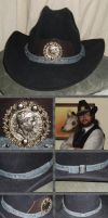 Steampunk Stetson - Napoleonic War Medal Hatband by Windthin
