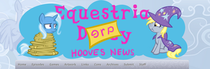 Equestria Derpy Hooves News Banner by SouthParkTaoist
