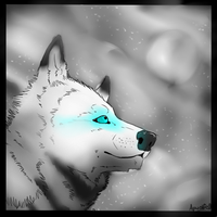 *Looking at The Moon* by Apwolf