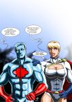 Captain Atom and Power Girl - Hot Topic by adamantis