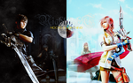 Noctis n Lightning: Wallpaper by areopoli
