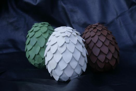 Game of Thrones - Dragon Eggs by the-mirror-melts