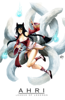 LoL: Ahri by KayouVirus