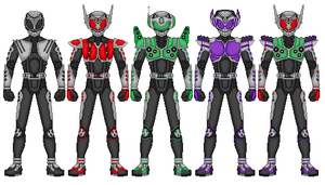 Kamen Rider Beat - All Forms by heavenlymythicranger