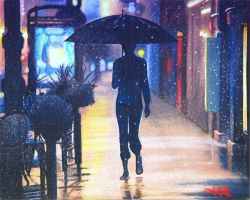 Neon Hearts of the Lonely Rain by akrathan