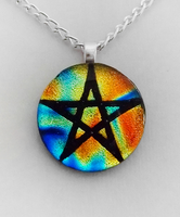Elemental Pentacle Fused Glass by poisons-sanity