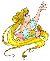 Princess Serenity Colour by darkened-storm