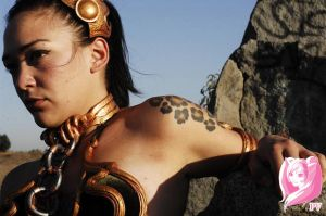 Slave Leia Preview Pic 1 by PixelVixens